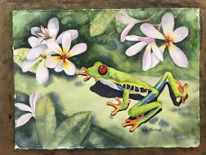 Frog and Plumerias