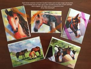 Horse Card Collection Set